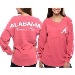 Alabama Crimson Tide Women's Pom Pom Jersey Oversized Long Sleeve ...