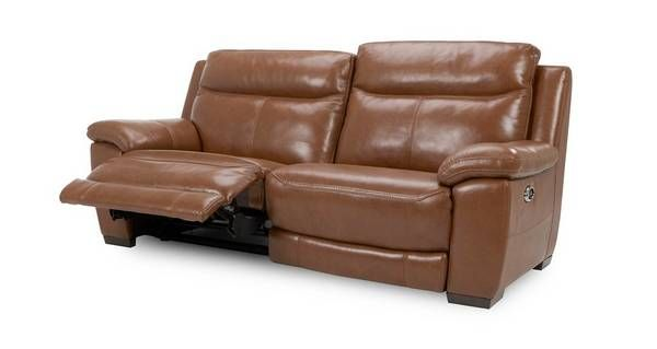 electric recliner leather sofas uk 2 piece sectional sofa liaison and look 3 seater brazil with fabric dfs ireland
