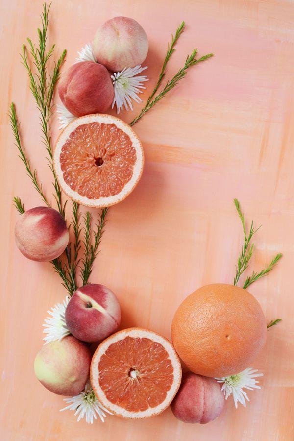 künstlerische Leitung Pfirsiche + Grapefruit Food Styling Stillleben Fotografie