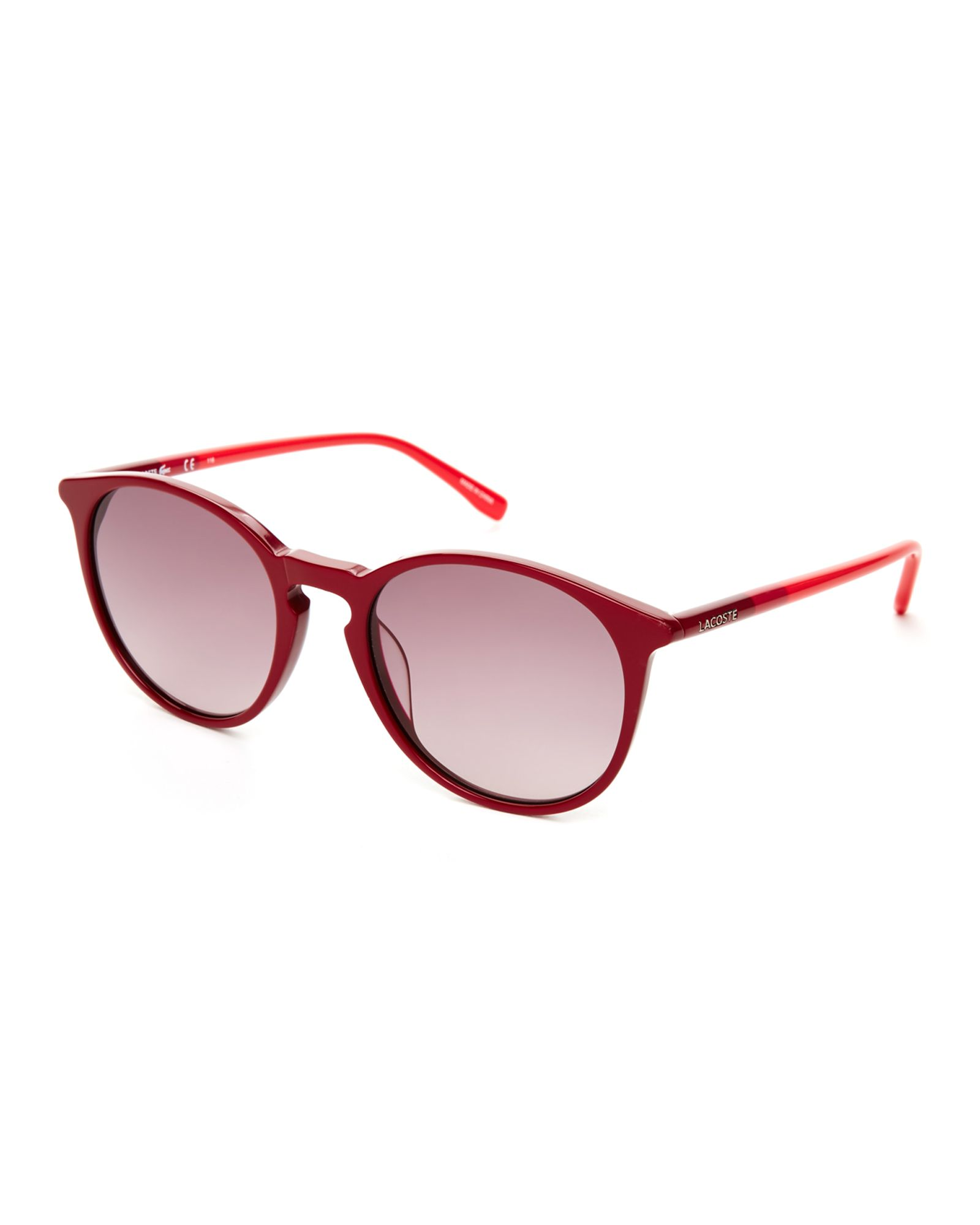 420e8f504db Lacoste Red L786S Retro Round Sunglasses