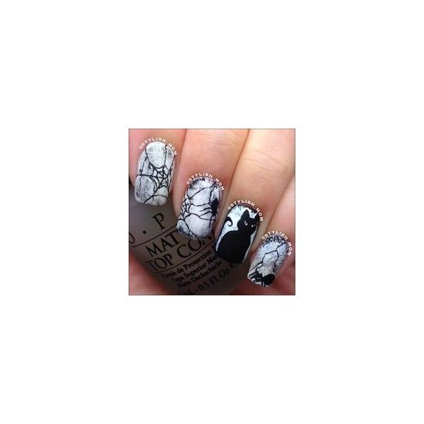 Scary Bats And Full Moon Halloween Nail Art Starrynail Liked On