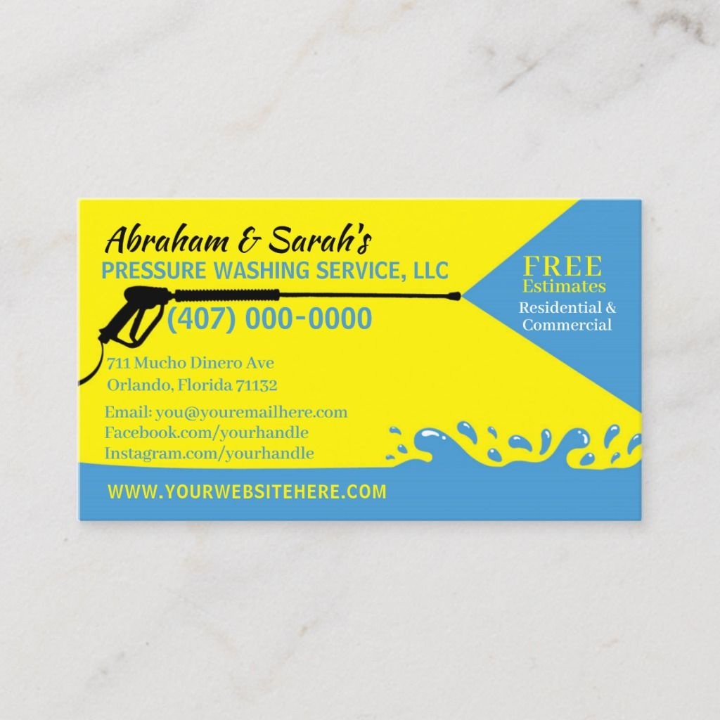 Pressure Washing Cleaning Business Card Template Zazzle Com Pressure Washing Business Cleaning Business Cards Pressure Washing