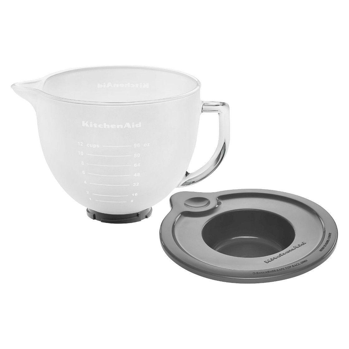 Kitchenaid frosted glass 5 qt mixing bowl mixer