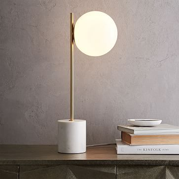 west elm sphere stem table lamp 152 - Unique Table Lamps