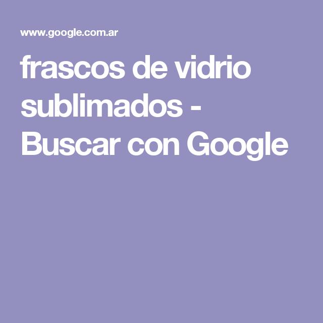 frascos de vidrio sublimados - Buscar con Google