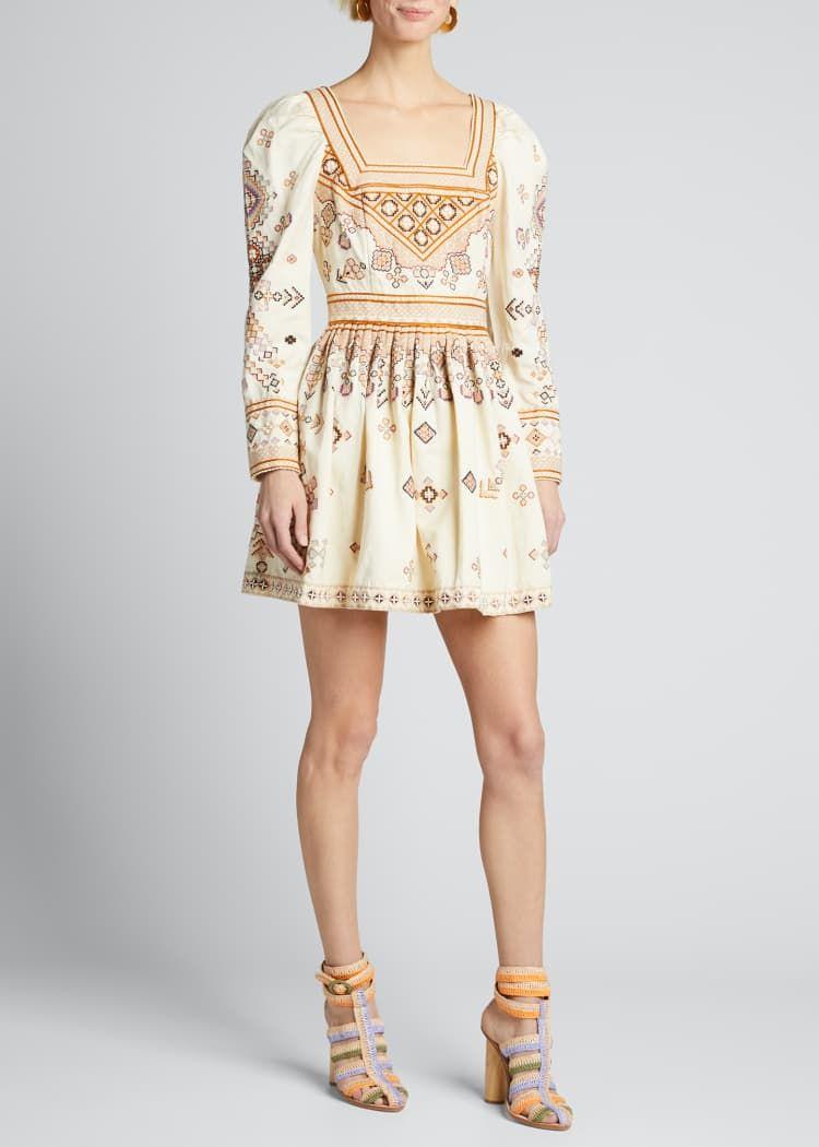 Ulla Johnson Adilah Embroidered Long Sleeve Dress Long Sleeve Embroidered Dress Long Sleeve Dress Dresses [ 1050 x 750 Pixel ]