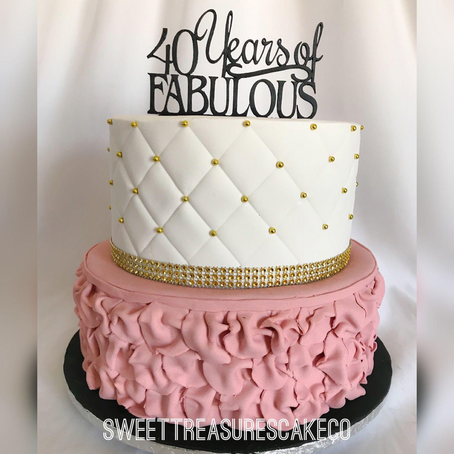 Fabulous 40 Years Of Fabulous Sweettreasures Sweettreasurescakeco Funny Birthday Cards Online Kookostrdamsfinfo