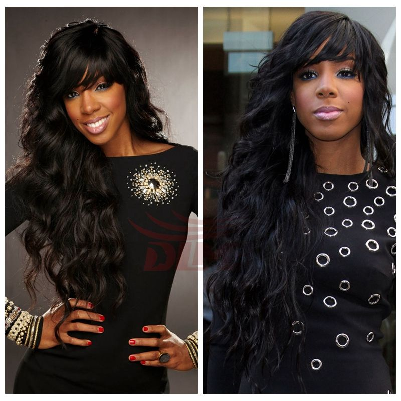 Black women glueless full lace front wigs human hair with