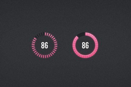 Circular Progress Bars |  PSD | Progress bar, Interactive