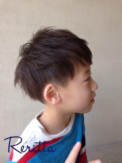 キッズ☆ツーブロックショート|Rerittaのキッズヘアスタイル