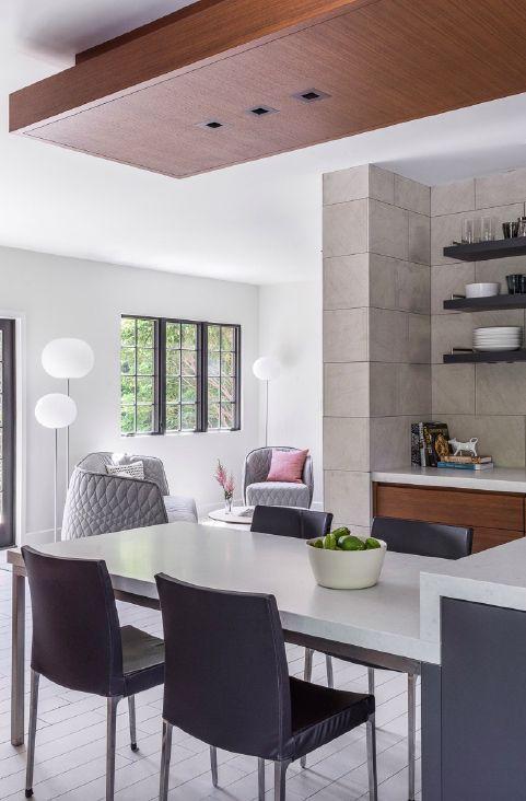 Modern Tudor Renovation By Hacin Associates Contemporary Kitchen Island Contemporary Wood Kitchen Contemporary Kitchen