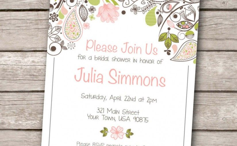 Free Printable Wedding Invitations Templates Invitation Sample - free bridal shower invitation templates printable