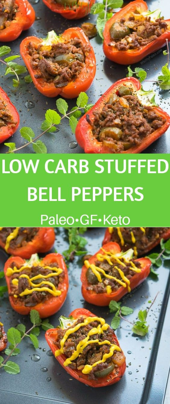 Low Carb Stuffed Bell Peppers #bellpepperrecipes