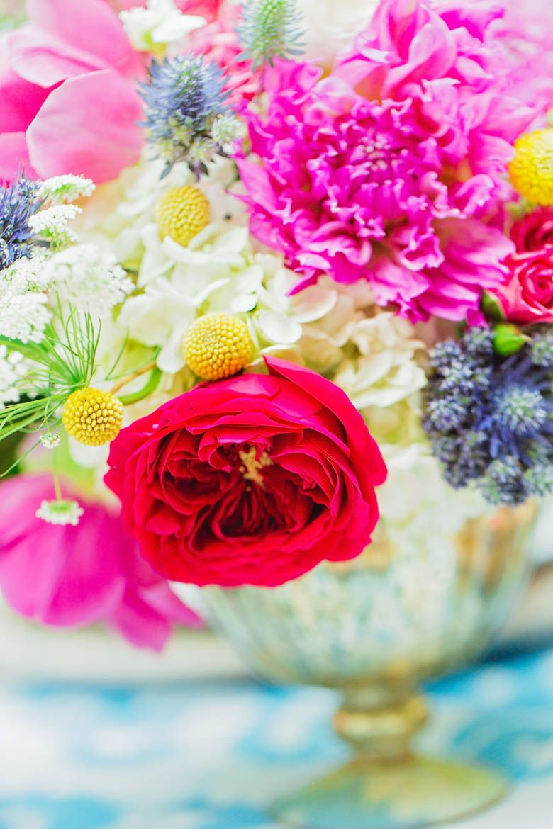 colorful floral arrangement - Modern and Colorful Girls Night Out ...