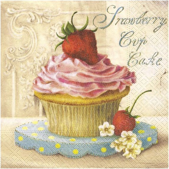 Strawberry Cup Cake Afternoon Tea Shabby Vintage Chic