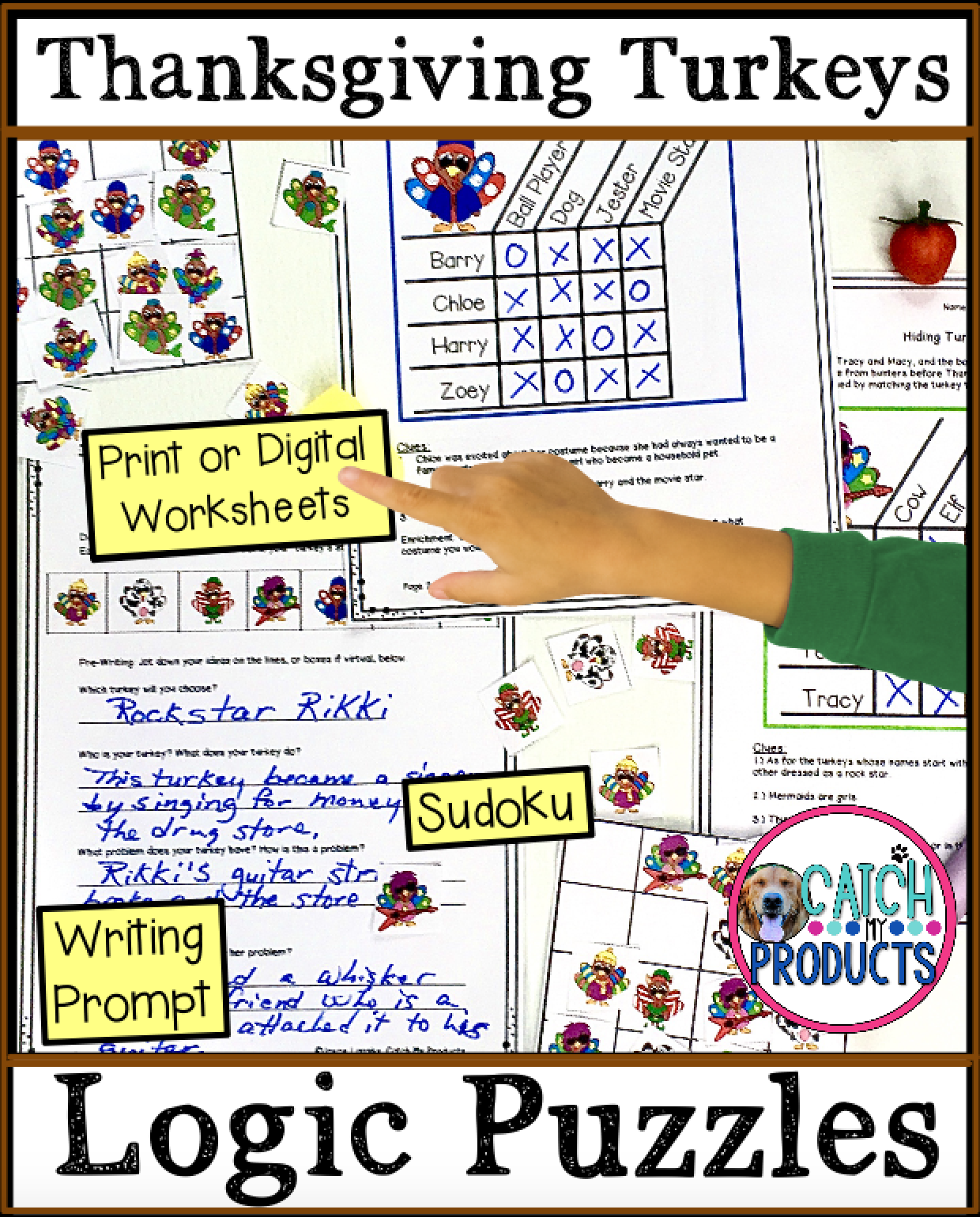 Digital Logic Puzzles For Thanksgiving Activities