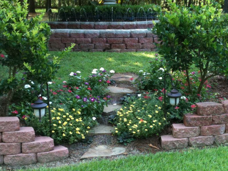 country style landscaping ideas on a budget Sloped