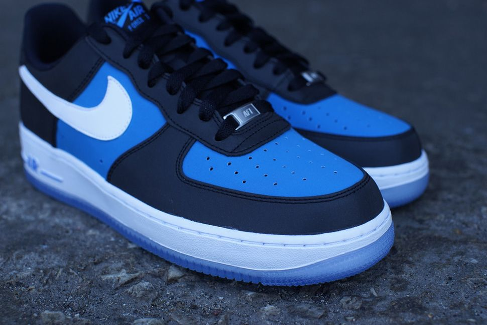 air force 1 blue and black