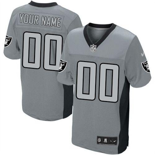 Mens Nike Oakland Raiders Customized Limited Grey Shadow NFL Jersey ... 7b28b7e3e