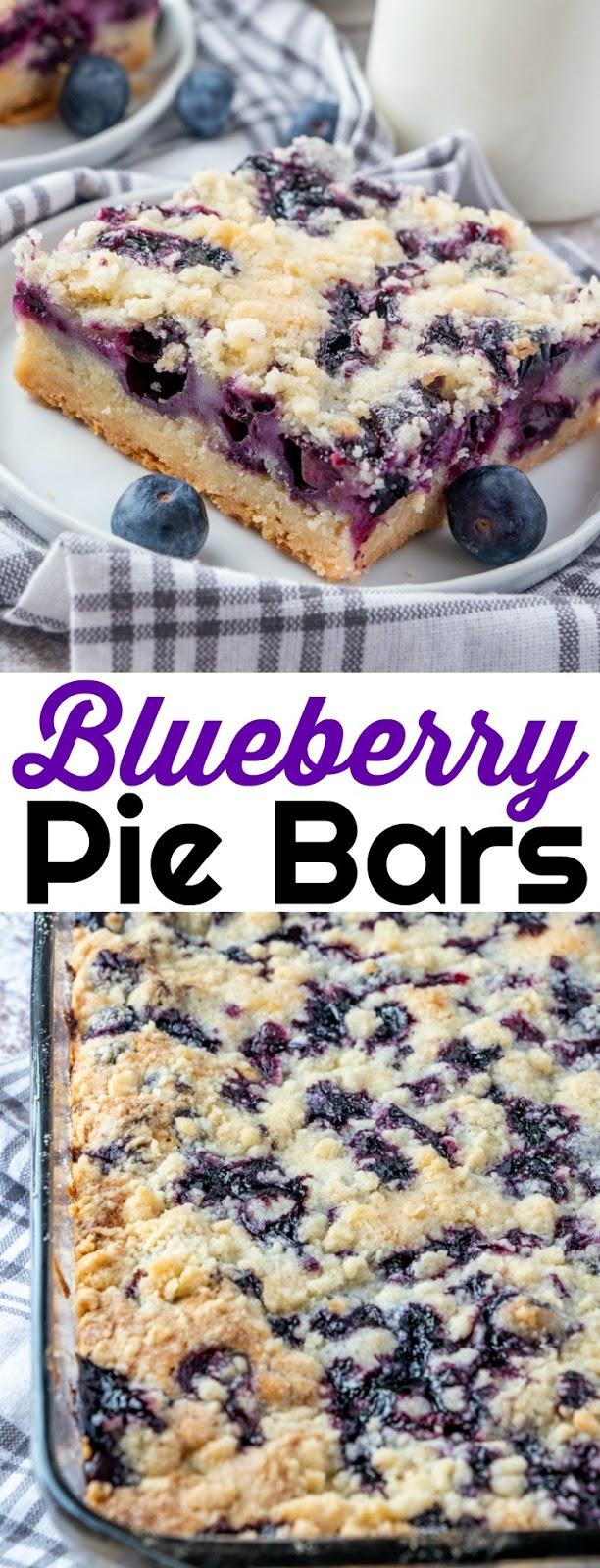 Delicious Blueberry Pie Bars Recipe
