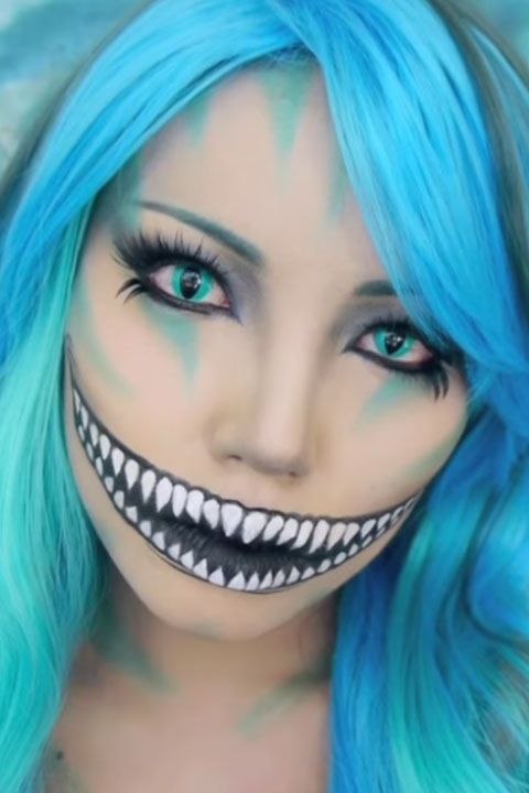 7 Incredible Cheshire Cat Makeup Tutorials That Take Halloween To - Cheshire-cat-makeup-tutorial-you