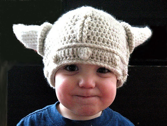 Crochet Viking Hat or Girl Viking hat with by ballhanknskein, $32.00