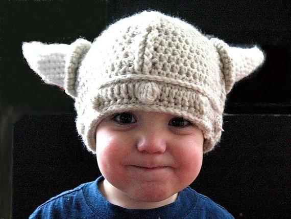 Viking Hat Toddler Croche | Baby | Pinterest