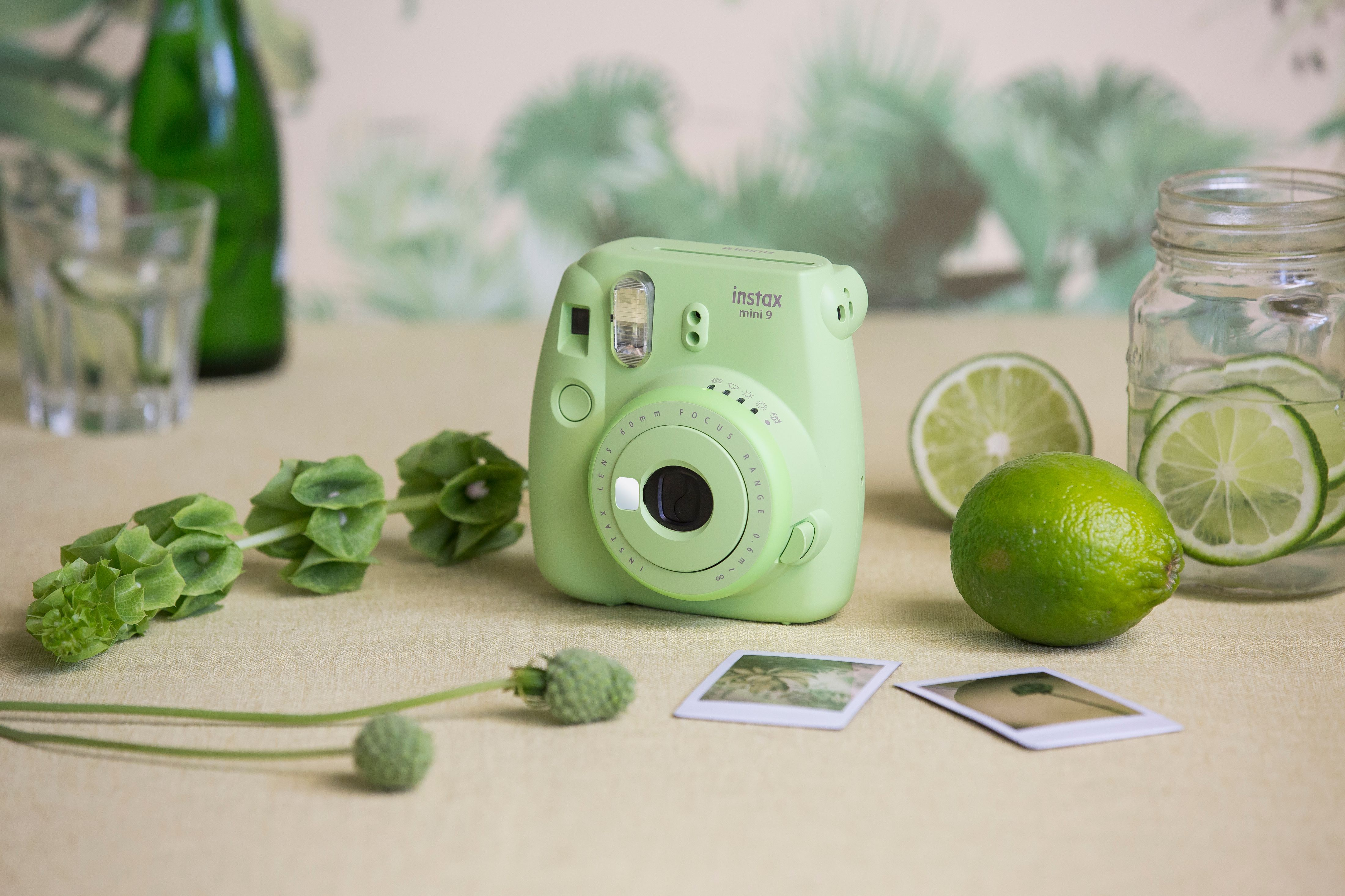 The new mini 9 in Lime Green Instax camera, Instax