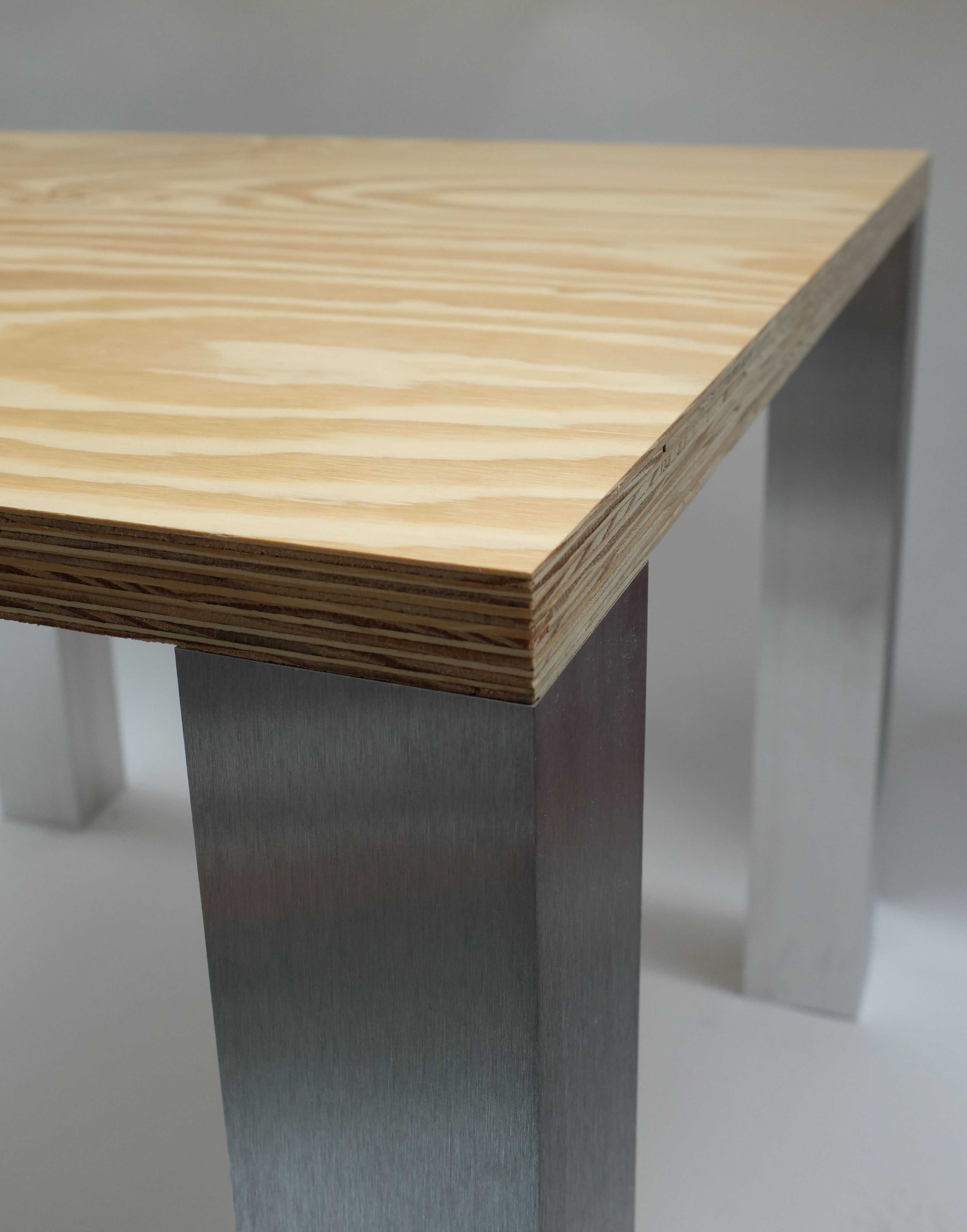 Small Dining Table 900mm Square 750mm High Chunky 36mm Ply Top Slightly