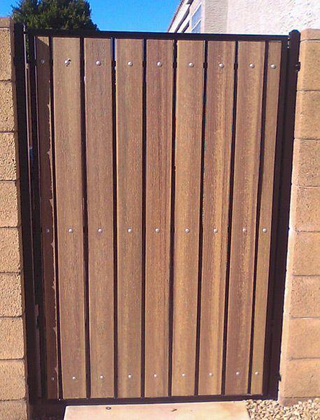 Iron and wood gates design iron and wood gates standard for Wooden garden gates designs