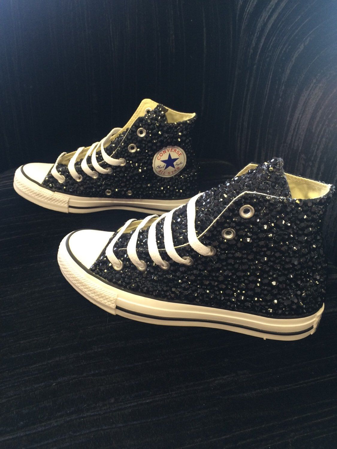 A personal favourite from my Etsy shop https   www.etsy.com  uk listing 268023441 blinged-up-black-converse-black-sparkly a727212ad