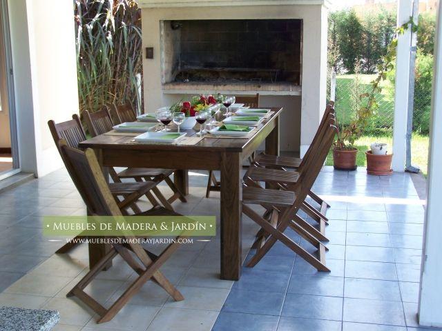 Mesas de madera para galeria | Muebles de Jardin