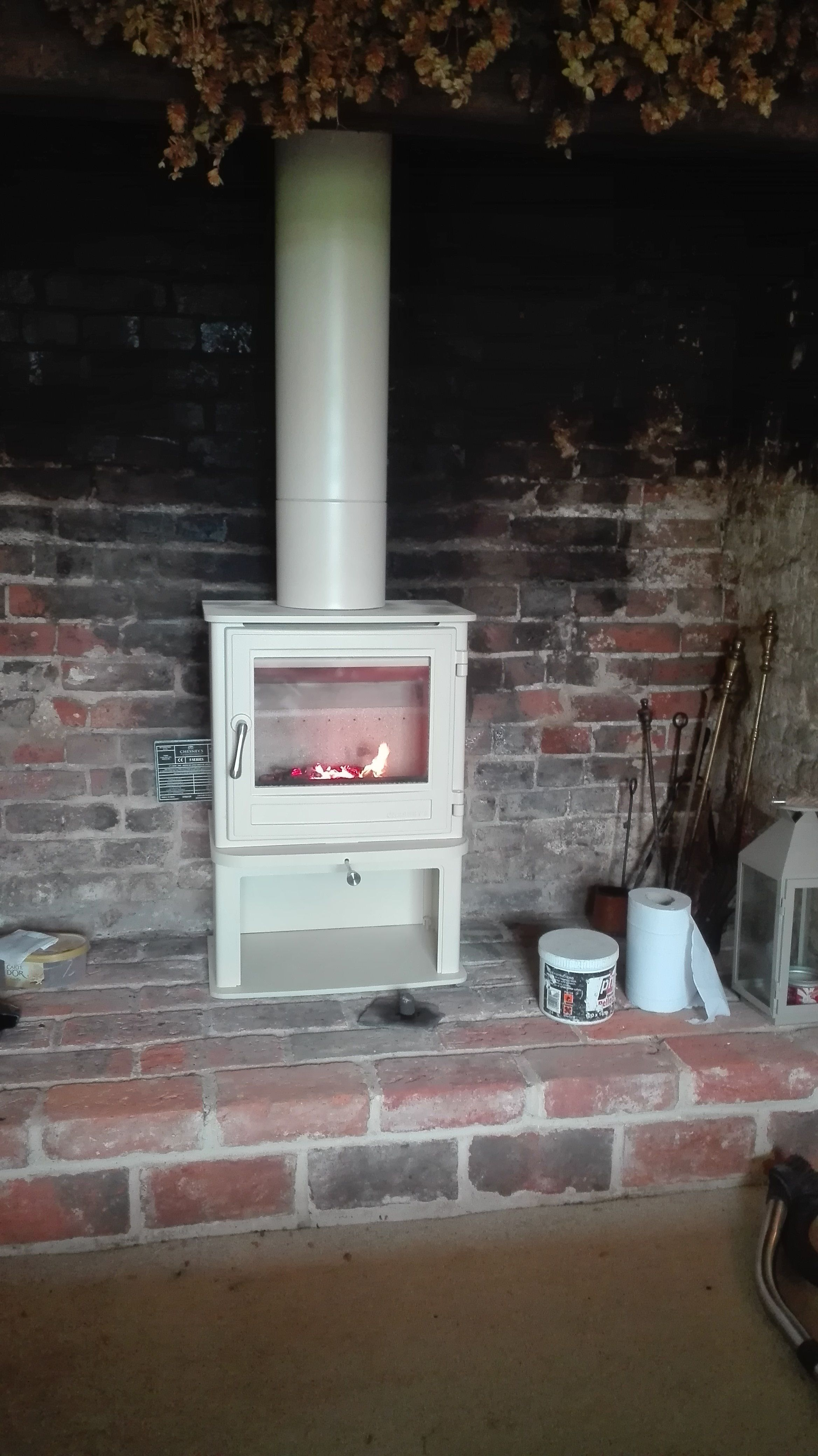 Chesneys Salisbury 5 Ls Woodburning Stove In Parchment Into