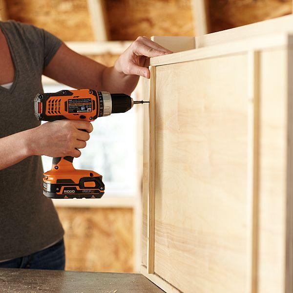 Construire Une Petite Armoire Murale Avec Table Pliante Pour Le