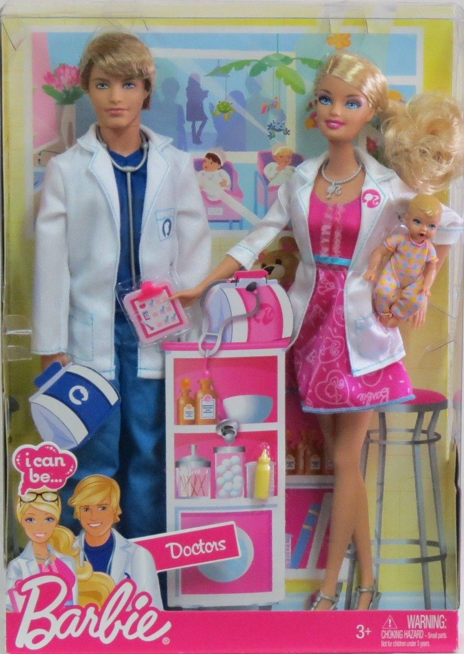Agtoyland Barbie I Can Be Doctors Barbie And Ken Dolls 35 99