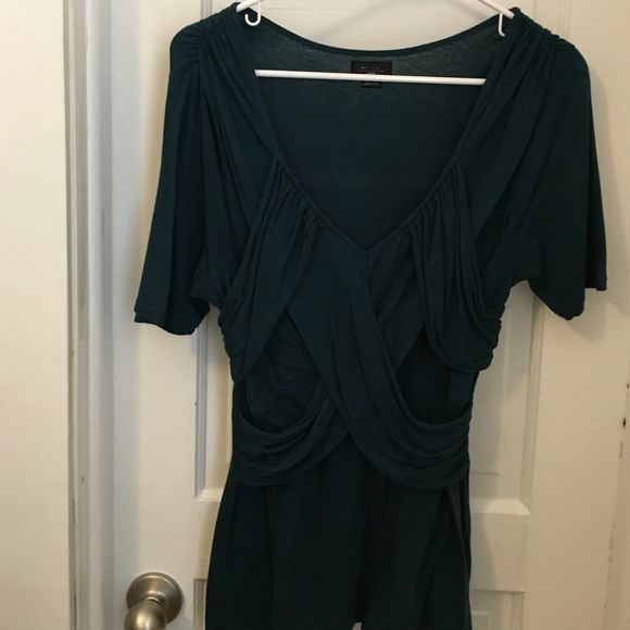 Anthropologie Deletta teal top Good used condition. No rips/ no stains. Anthropologie Tops