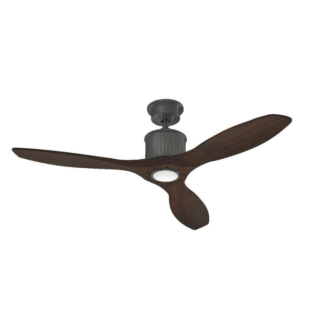 Home Decorators Collection Reagan Ii 52 In Led Indoor Natural Iron Ceiling Fan With Light Kit And Remote Control Yg423 Ni Ceiling Fan Ceiling Fan Design Wood Ceiling Fans