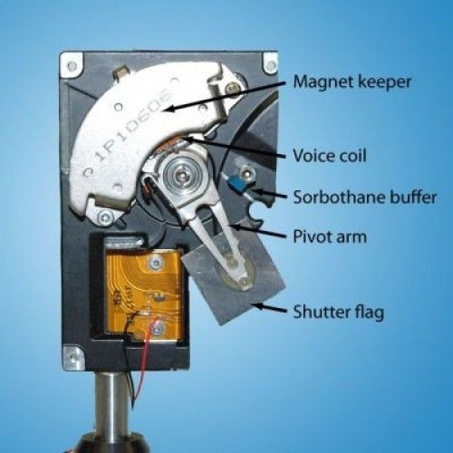 A Voice Coil Moves The Arm Of The Hard Drive Along With