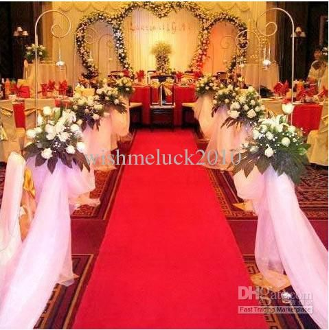 2013 NEW CHINESE RED beautiful aisle carpet /aisle runner for ...