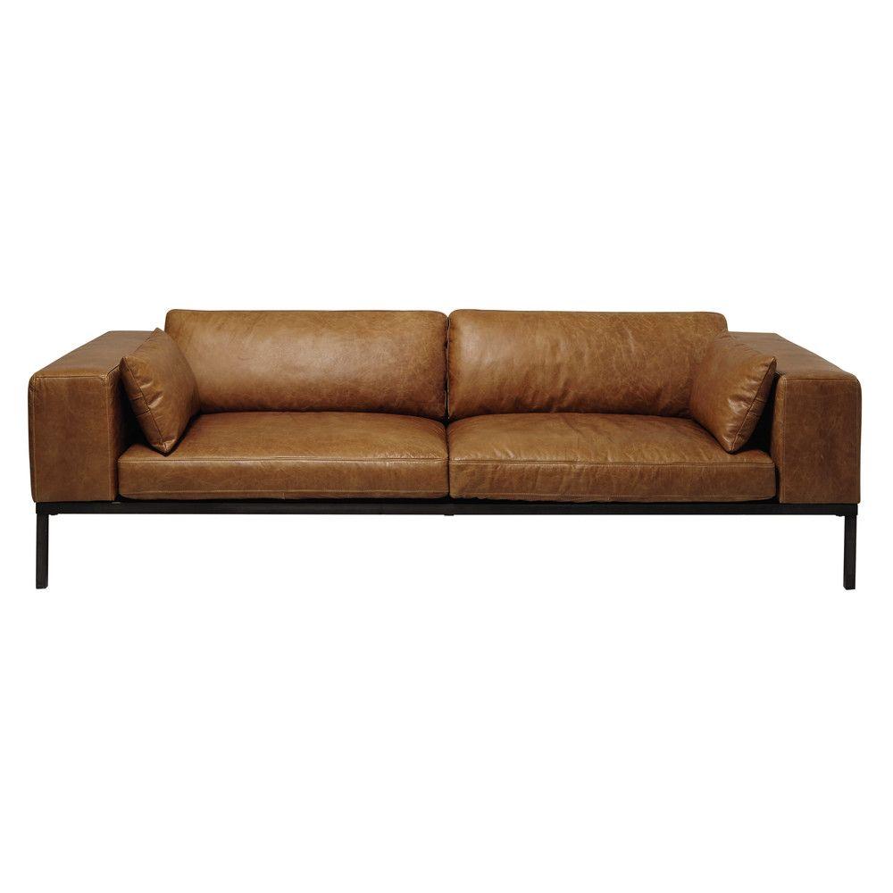Canapé 4 places en cuir Wellington Wishes