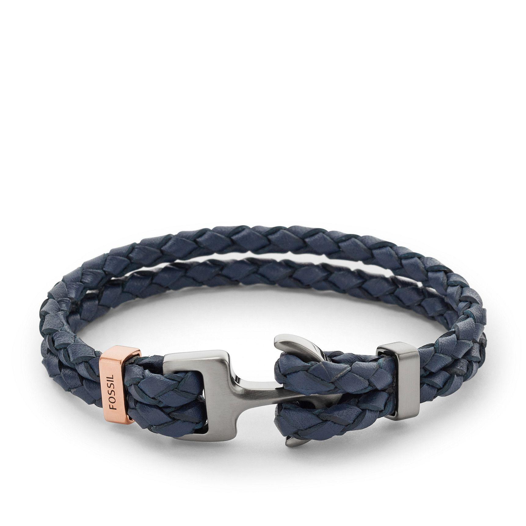 Bracelet Leather BrownRaw Fossil • Shape JTlKF1c