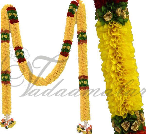 Artificial Yellow Flower Garlands Doorway Decorative Fabric Malas Tomas  Garland