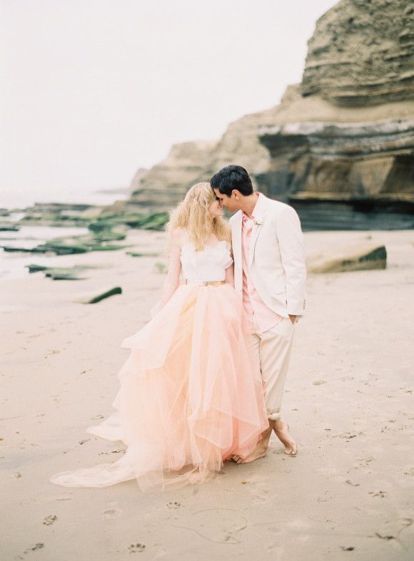 Pink Beach Wedding Styled Shoot Haljice Wedding Wedding Dresses
