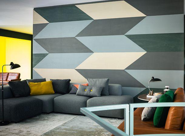 Modern Interieur Schilderij : Diy schilderij gemaakt d m v tape house interieurs