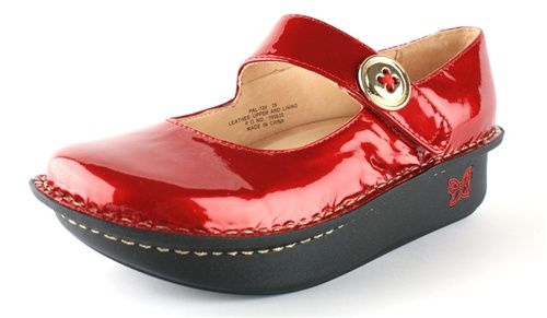 Alegria Paloma Sangria Patent | FREE SHIPPING Both Ways from  AlegriaShoeShop.com | The Alegria Experts
