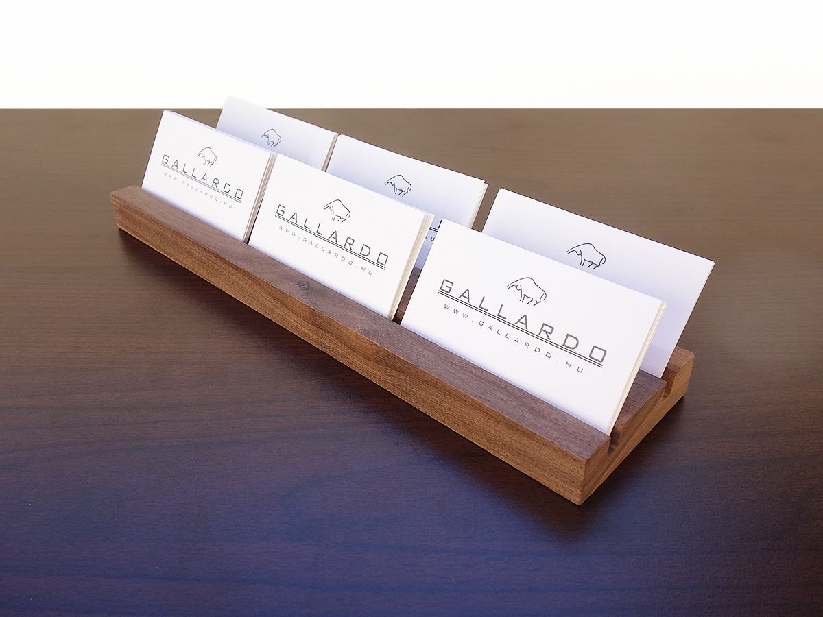My favorite DIY wooden business card holder - display | Haney ...