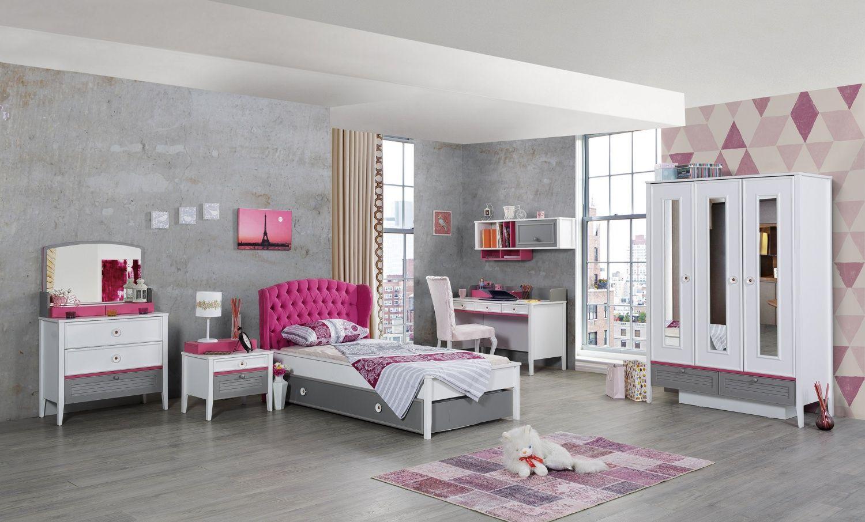 Madchenzimmer Laila Im 6 Teiligen Set In Modernem Design Und Mit Auffalligen Farben Sorgt Die Serie Laila Fur Das Zimmer Kinderzimmereinrichtung Jugendzimmer