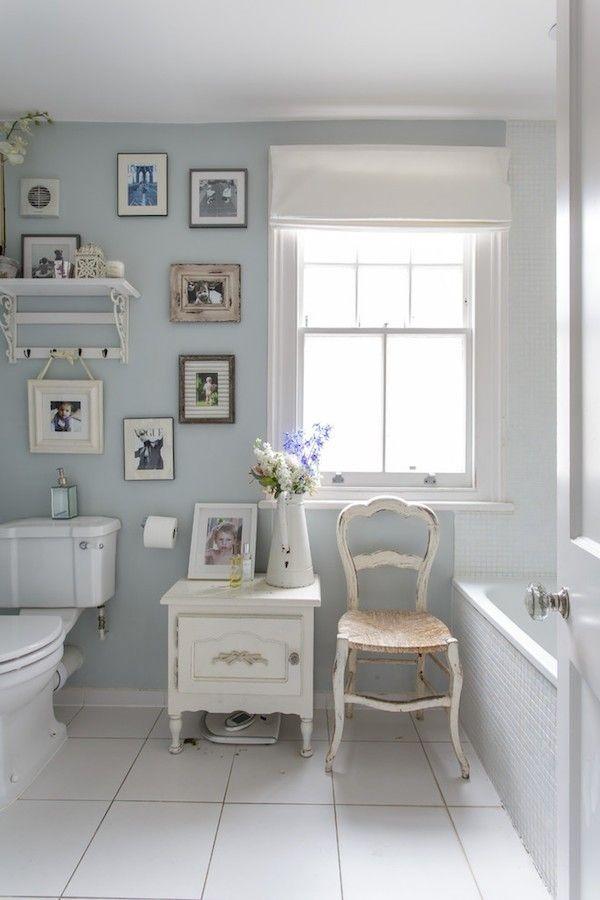 shabby chic badezimmer wanddeko wandbilder helle ambiente - shabby chic badezimmer