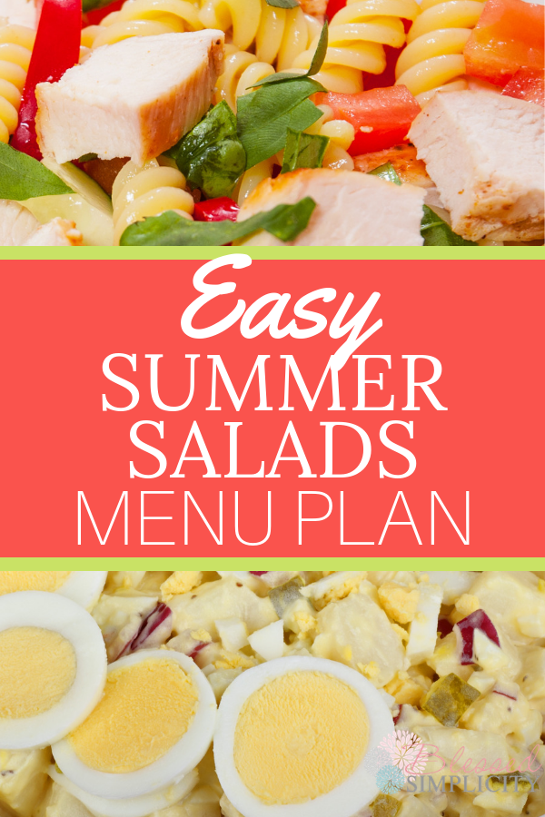 Easy Summer Salad Recipe Menu Plan images
