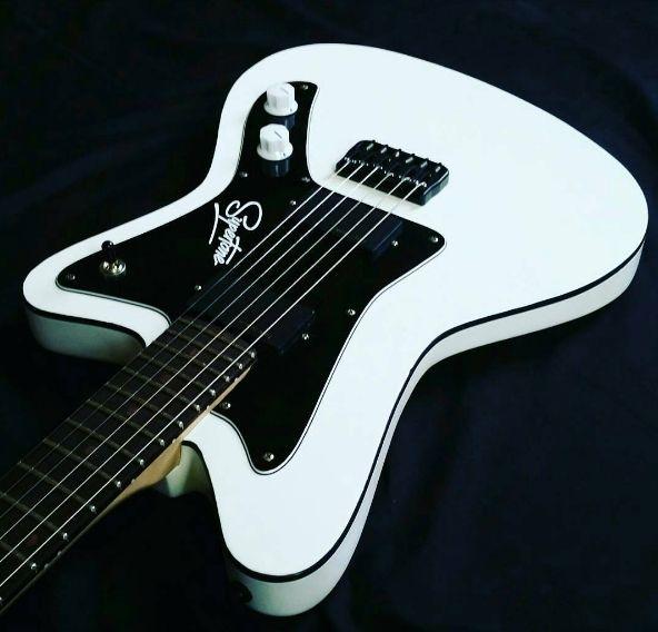 Olympic White Revelator SuperTone Offset Guitar With Black